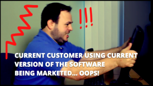 Image of an angry customer from a Corporate Video