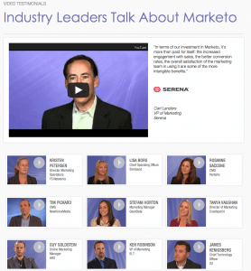 Marketo Testimonial Video