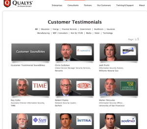 Qualys customer testimonial videos